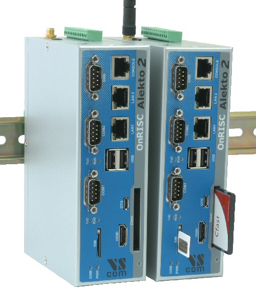 Alekto 2 upright on DIN Rail